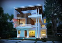 3d Architectural Bungalow Rendering Elevation