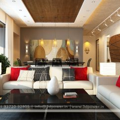 Furnishing A Living Room Hotel Ideas Modern Interior Design 3d Rendering Power Sofa