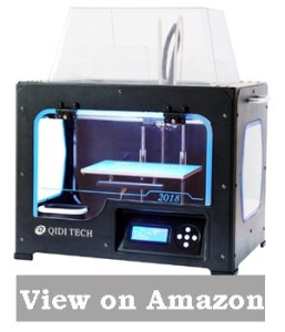 QIDI TECHNOLOGY 3DP-QDA16-01 Dual Extruder Desktop 3D Printer QIDI TECH I, Fully Metal Frame Structure, Acrylic Covers, with2 Free Filaments, Works with ABS.
