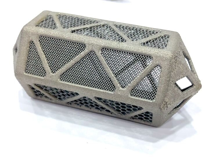 """A complex 3D printed metal part made by VELO3D""""s Sapphire system [Source: Fabbaloo]"""