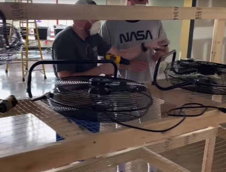 Building a drying station for a disinfection line in Huntsville for 3D printed medical parts [Source: YouTube]