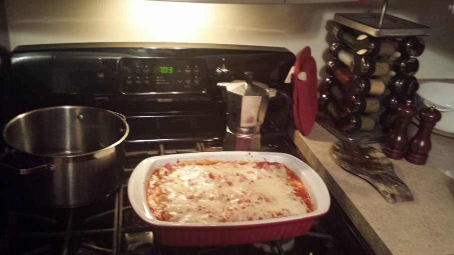 Lasagna! The first meal I cooked in my kitchen when we moved into our house. Homecooking really adds a homey touch to a new home. [Image: Fabbaloo]