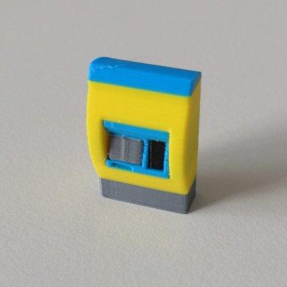 Full color NS kaartjesautomaatin schaal H0 3d print