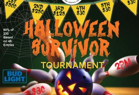 Halloween Survivor Bowling Tournament at 3D Sideouts