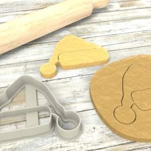 Cappello Babbo Natale formina biscotti Cookie Cutter