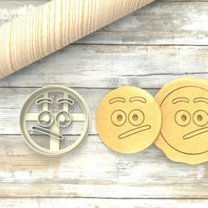 Faccina Emoji mmhh a Formina taglierina per biscotti | Emoji Cookie Cutter