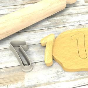 Numero 1 formina taglierina per biscotti |Number 1 Cookie Cutter