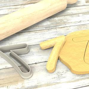 Numero 7 formina taglierina per biscotti | Number 7 Cookie Cutter