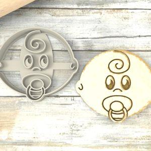 Bimbo con ciuccio stampini biscotti
