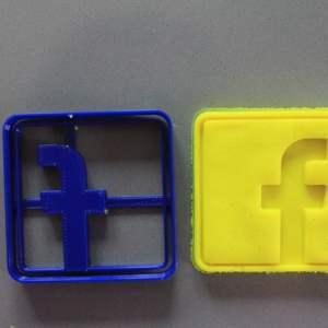 Facebook cookie cutter formina