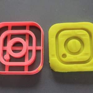 Instagram logo cookie cutter