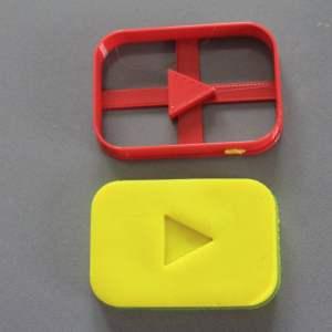 Youtube logo cookie cutter formina biscotti