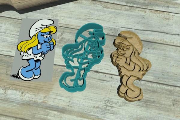 Puffetta - Smurfette - The Smurfs cookie cutters