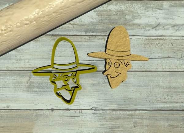 Uomo dal cappello giallo formina per biscotti