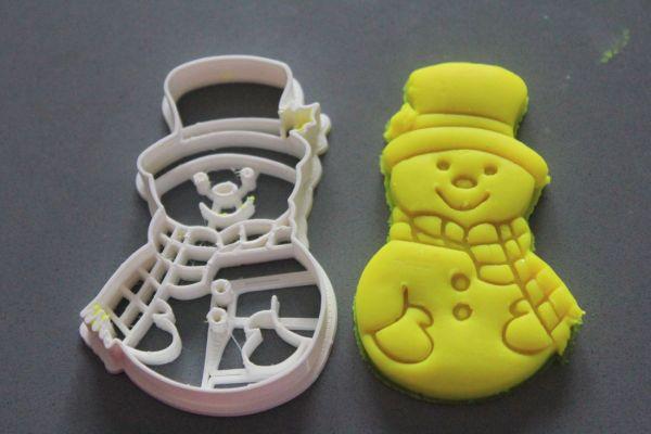 Pupazzo di Neve formina per biscotti