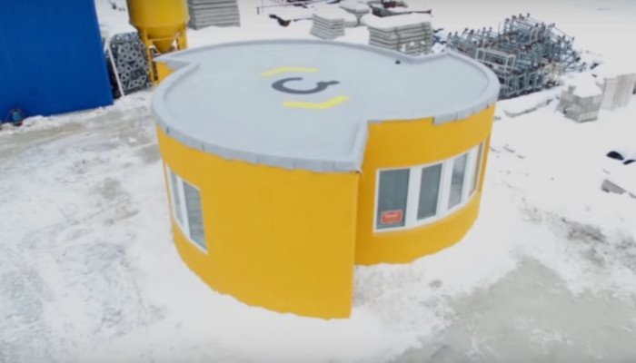apis cor 3d printed house in 24 hours