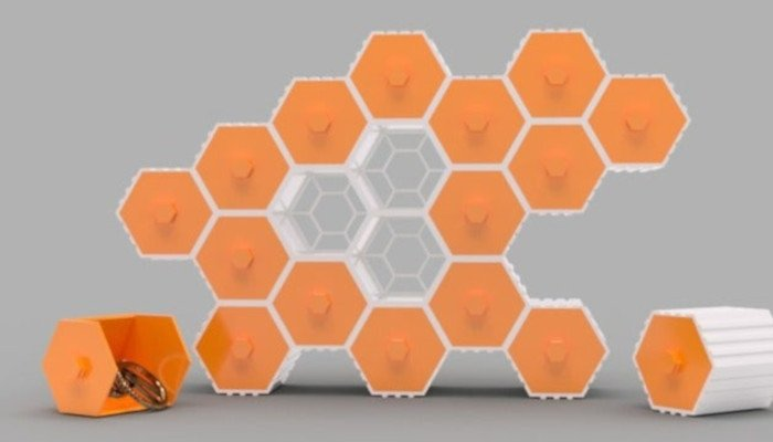 hive hex drawers 3d printer model models