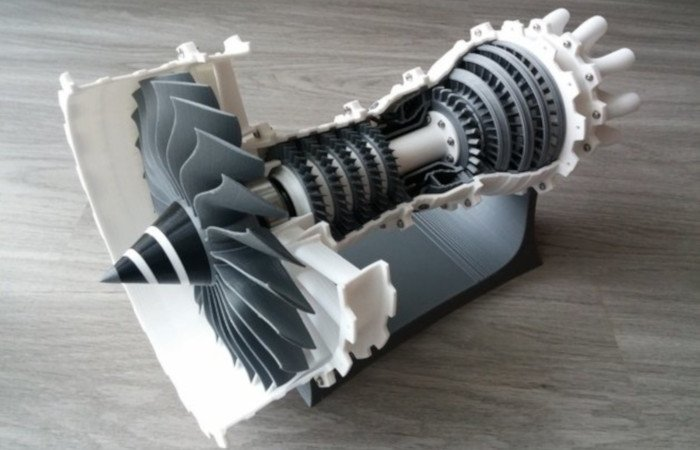 3d printed jet engine 3d printer model