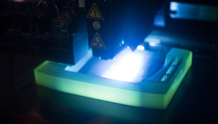 polyjet 3d printing uv light
