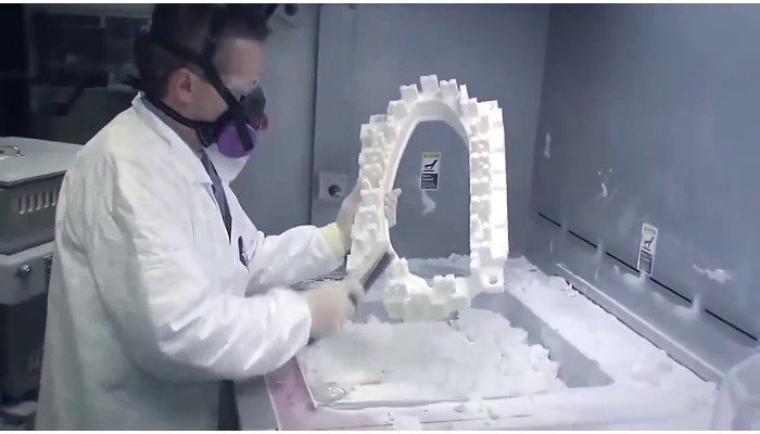 selective laser sintering sls part post processing