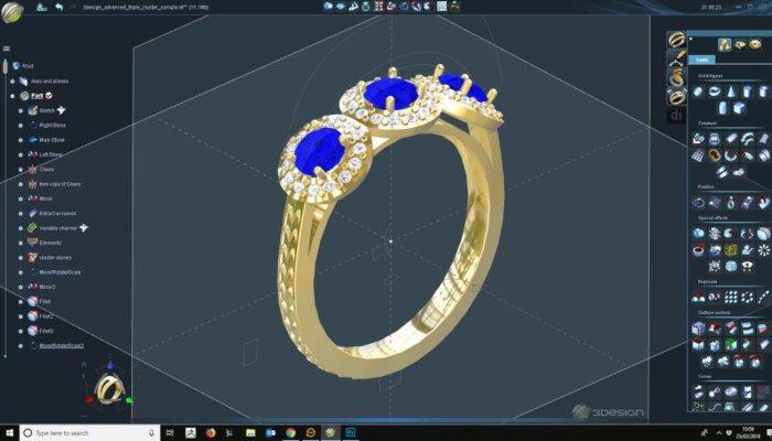 cad software designed ring