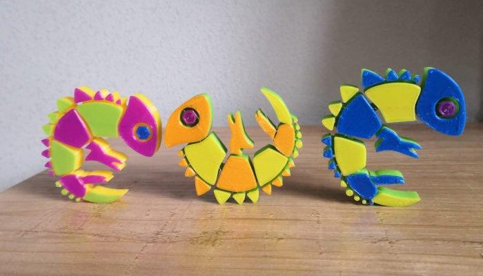 3dchameleon multi color 3d prints