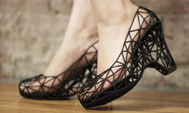 continuum 3d printed shoes