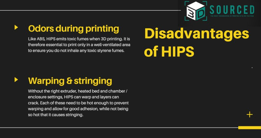 disadvantages of hips filament