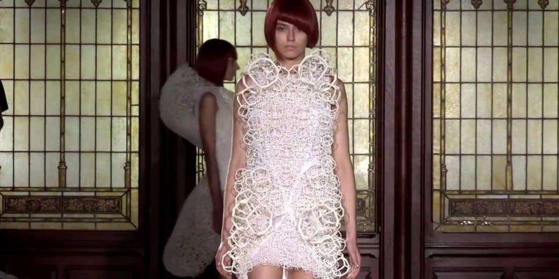 mer-ka-ba merkaba 3d printed dress