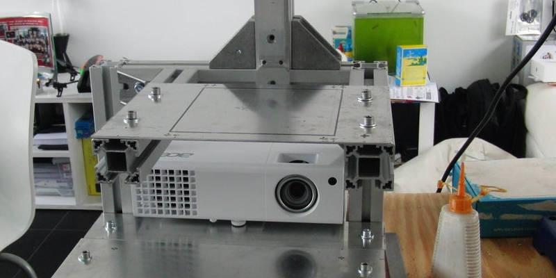 DIY 3D resin printer projector