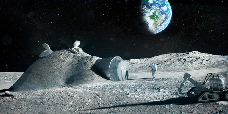 foster + partners 3d printed lunar base shelter