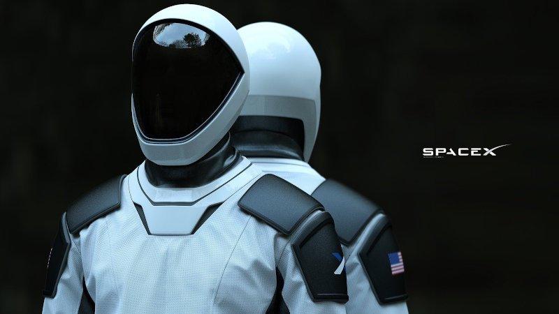 Starman 3D printed space suit helmet