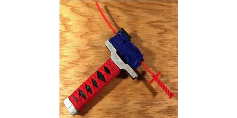 3D Printed Beyblade Launcher Katana Sword