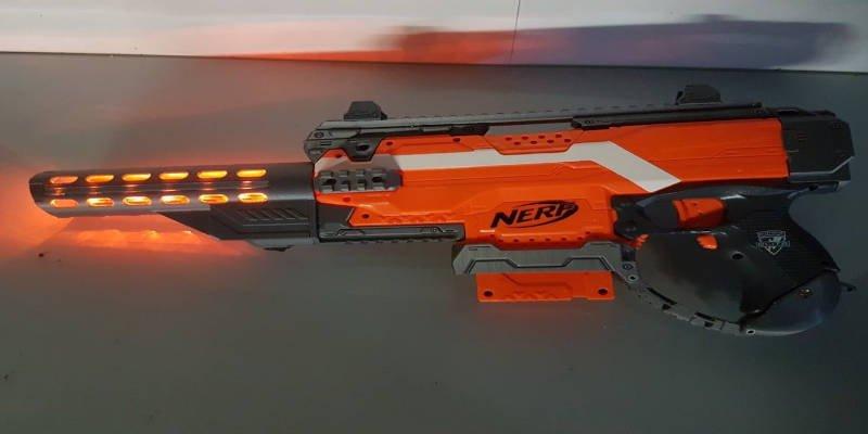 3D Printed Nerf Gun Attachment Light Up Barrel