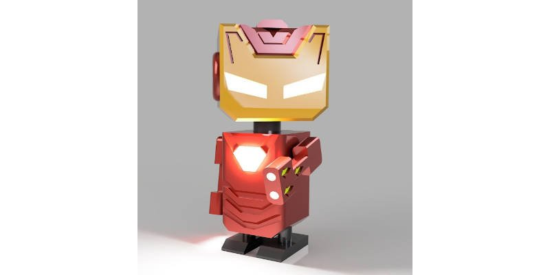 Best 3D Printed Gifts Iron Man Robot Cute