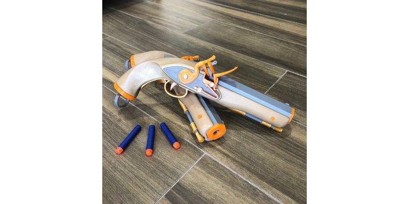 3D Printed Flintlock Foam Blaster