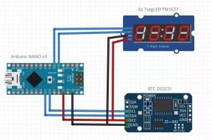 Fritzing Nano RTC TM1637 v2
