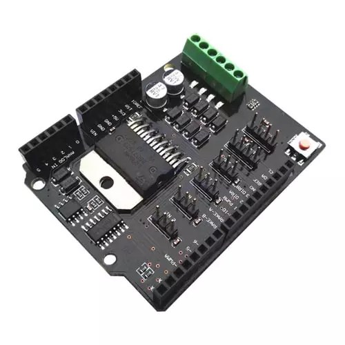 Arduino UNO Dual Channel DC Motor Driver Shield L298NH 01