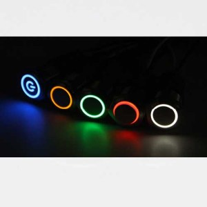 Tipke stikala LED 12mm osvetlitev 01