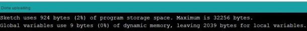 Arduino IDE done uploading