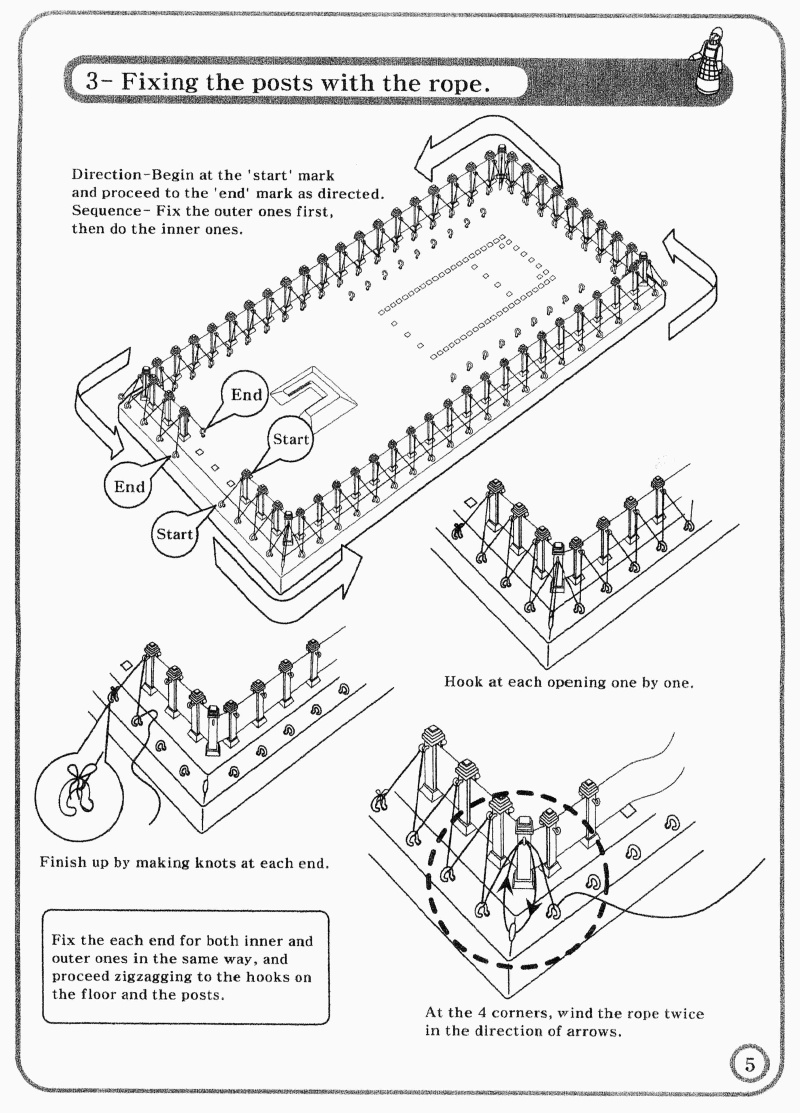 Tabernacle Instructions: Outer Wall Ropes