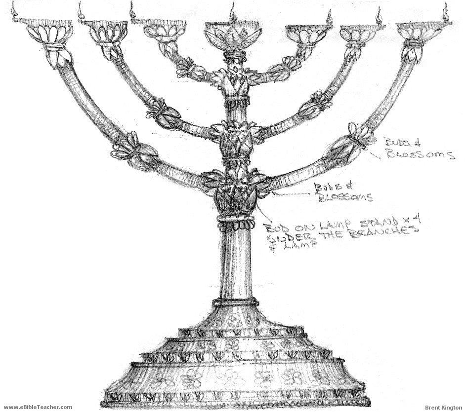 Bible Tabernacle Lampstand (Menorah)