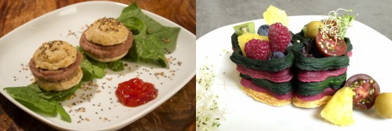 """Natural Machines makes Foodini, """"A new generation kitchen appliance that combines technology, food, art and design."""" From the early 3D printed food visuals, I'd say vegan has it!"""