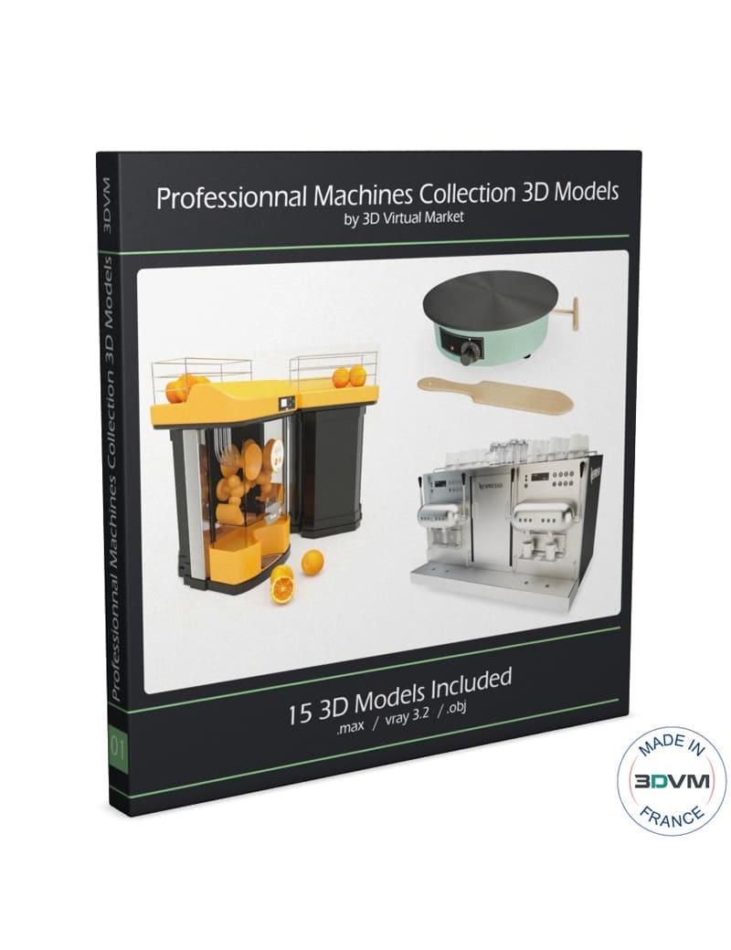 Professional kitchen equipment  3d models 3d models for