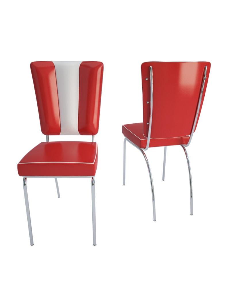 chaise american diner en 3d a telecharger en max et obj