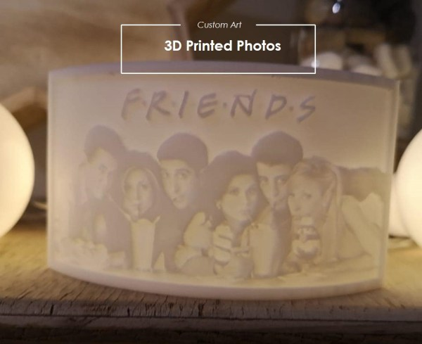 3D printed FRIENDS picture by 3DWhip. 3D printing service south africa