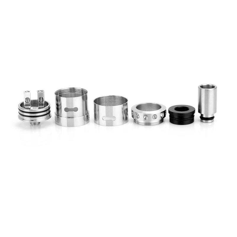 Double Vision Style 22mm Black Silver RDA Rebuildable