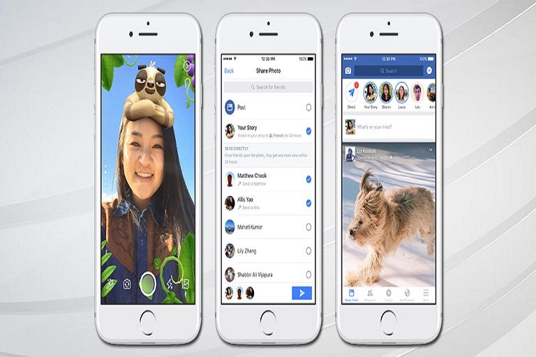 Facebook Adds Snapchat like Camera Filters