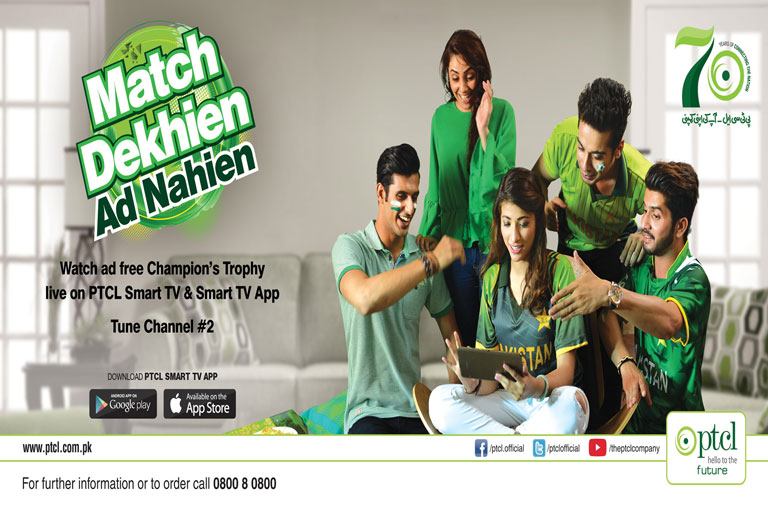 PTCL Offers AD-Free ICC Champions Trophy Through SmartTV & App