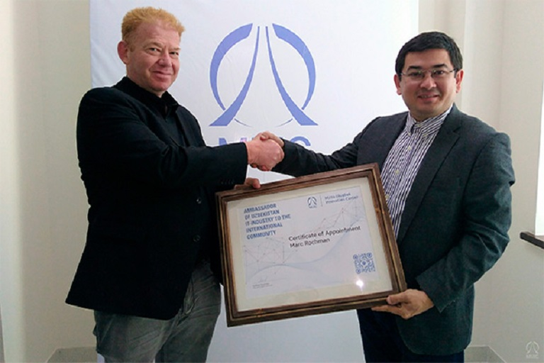 Mark Rochman Becomes Ambassador of Mirzo Ulugbek Innovation Center